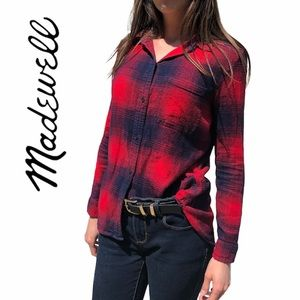 Madewell- Classic Fit Flannel Button Up